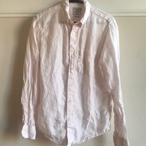 Abercrombie & Fitch Pink Linen shirt Medium small